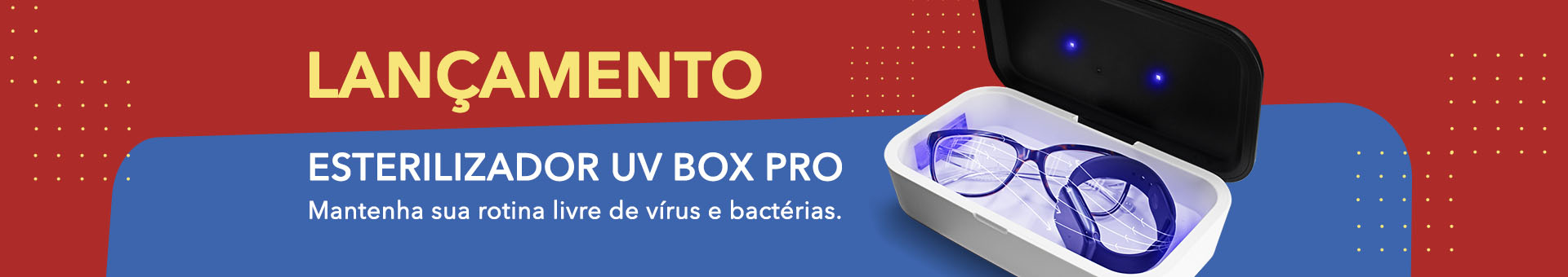 Banner Desktop Esterilizador UV Box